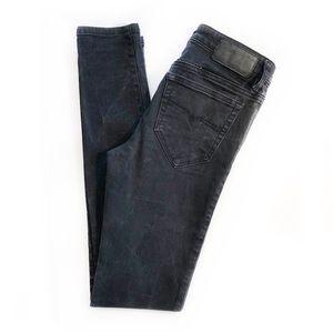 """DIESEL   """"Skinzee"""" Super Slim Skinny Black Jeans"""